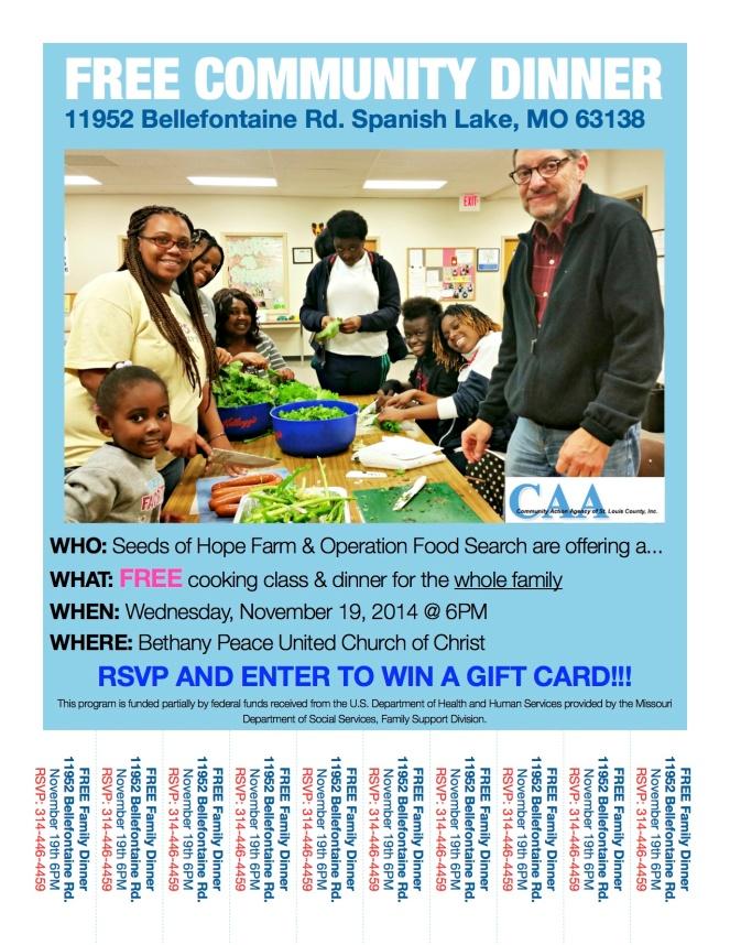 CSA Dinner Flyer - November