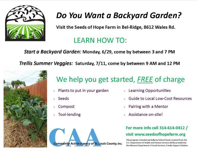 Backyard Garden Flyer