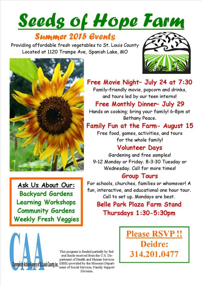 Summer Events Flyer 2015