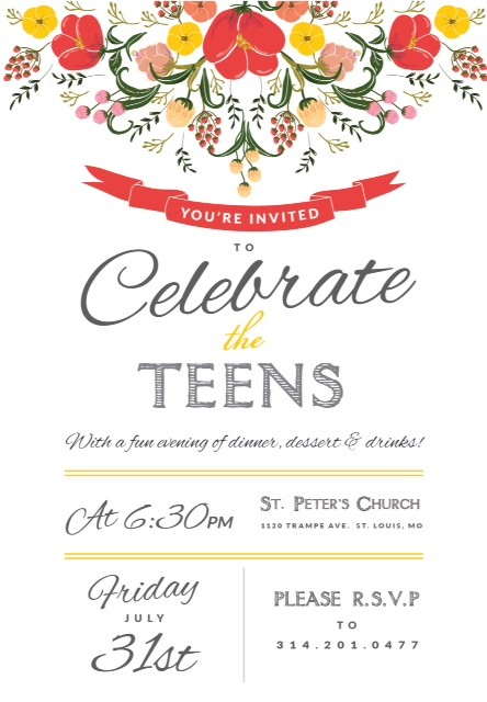 teen graduation invitation