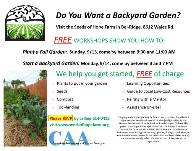 Backyard Garden Flyer fall 2015