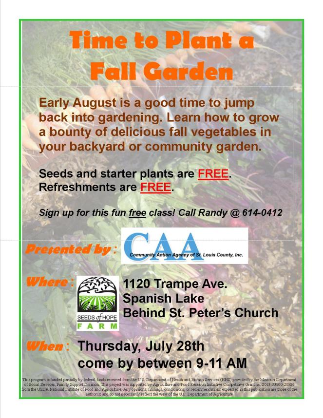 Time to Plant a Fall Garden 2016