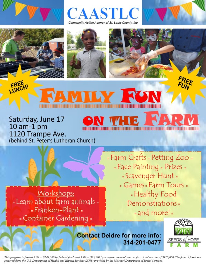 Family Fun on the Farm flyer 06.17.2017