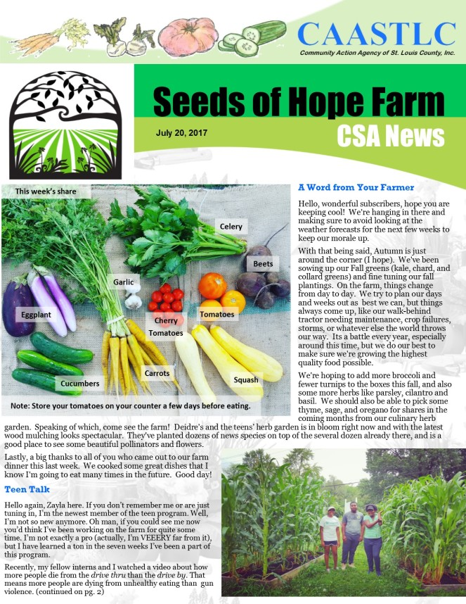 9_CSA Newsletter 07.20.2017 pg 1