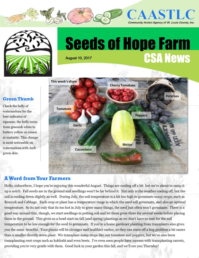 12_CSA Newsletter 08.10.2017 pg 1