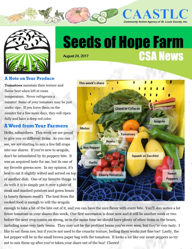 14_CSA Newsletter 08.24.2017 page 1