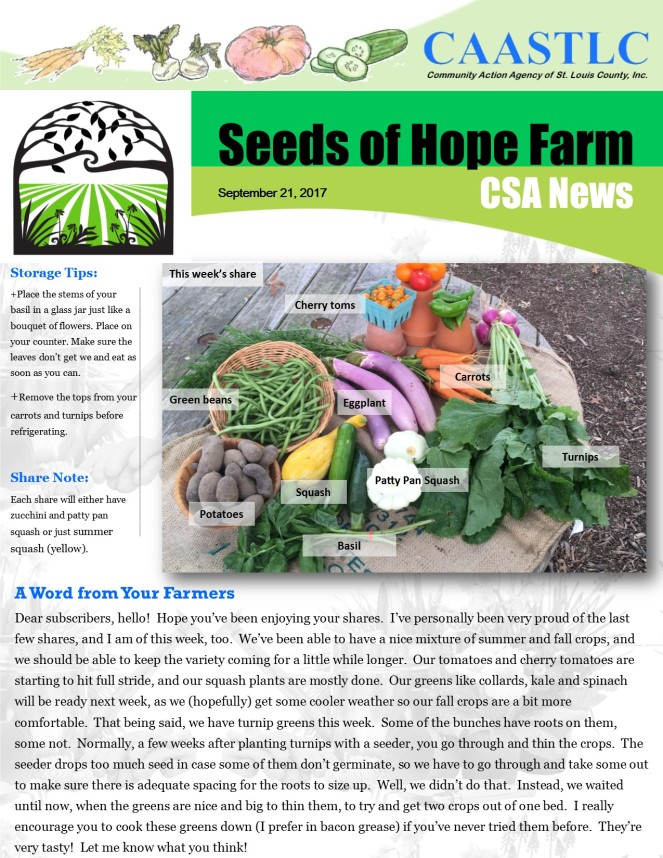 18_CSA Newsletter 09.21.2017 pg 1