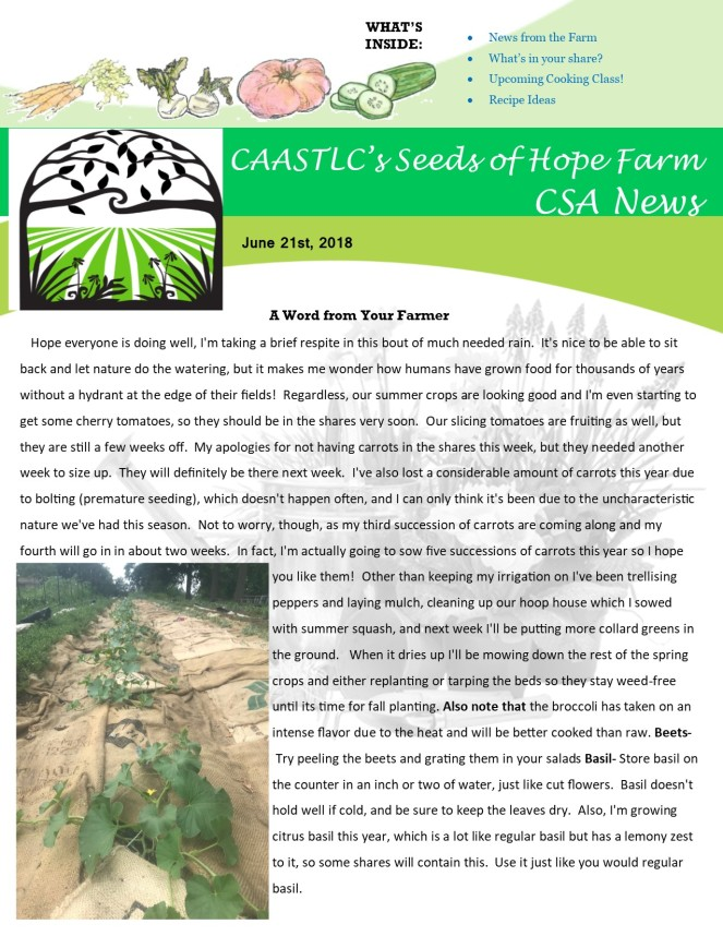 Week 5 6.21 2018 CSA Newsletter pg1