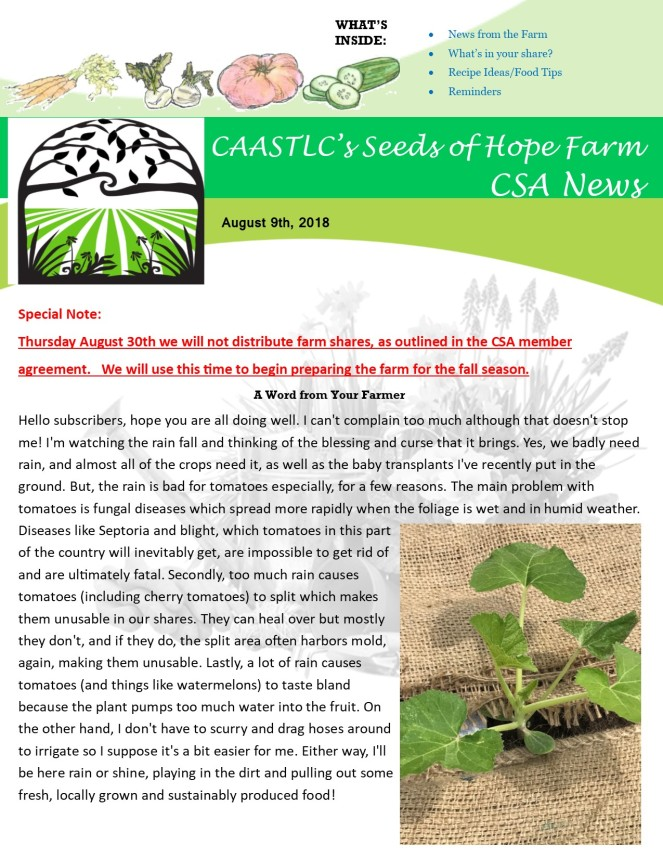 Week 12 8.09 2018 CSA Newsletter pg1