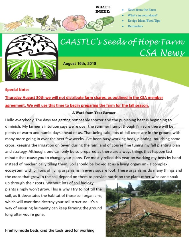 Week 13 8.16 2018 CSA Newsletter pg1