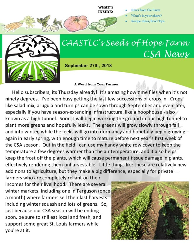 9.27 2018 CSA Newsletter pg 1