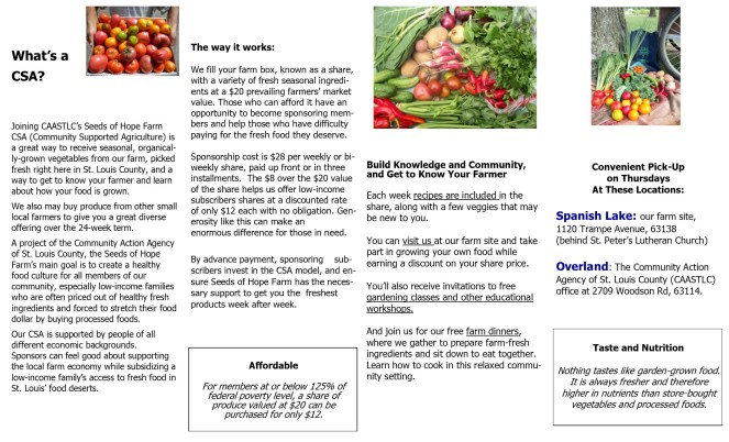 2019 Seeds of Hope Farm CSA Brochure pg 1