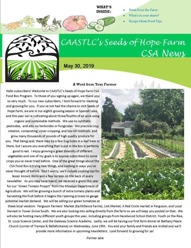 30.5 2019 CSA Newsletter pg 1