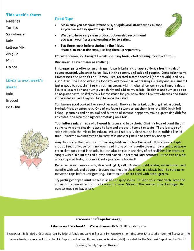 30.5 2019 CSA Newsletter pg 2