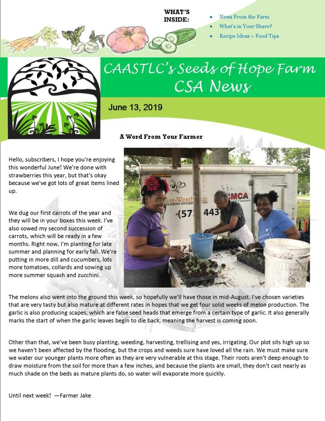 Newsletter 13 June 2019 Final pg 1