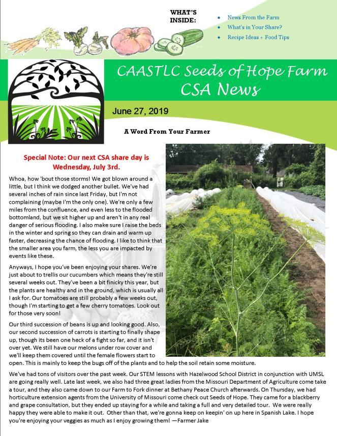 Newsletter 27 June 2019 FINAL pg 1